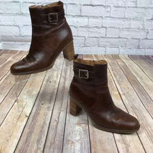 Bass Washington Square Brown Leather Ankle Boots